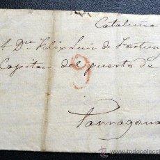 Sellos: ESPAÑA (1835) CARTA DE SAN ILDEFONSO A TARRAGONA RARA.. Lote 26691105