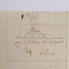 Sellos: LLINARS DEL VALLÈS, GRANOLLERS. SELLO DE 1866. . Lote 25895956