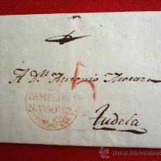 Sellos: CARTA PREFILATELIA - PAMPLONA 1826 TUDELA , NAVARRA. Lote 21564979
