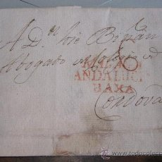 Sellos: MARCA PREFILATÉLICA EN CARTA, 1819, DE MÁLAGA A CÓRDOBA (ANDALUCIA BAXA). Lote 21925580