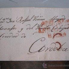 Sellos: MARCA PREFILATÉLICA EN CARTA, 1819, DE MÁLAGA A CÓRDOBA (ANDALUCIA BAXA). Lote 21925618