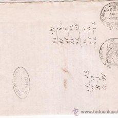 Sellos: CARTA FRANCESA. HAVRE 23 CCTOBER 1856. CON TIMBRER EXTRAORDINAIRE SEINE INFERIEURE Y TIMBRE IM-. Lote 22357148