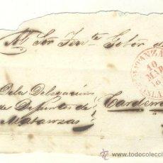 Sellos: 1848 CUBA PREFILATELIA PLICA DE MATANZAS A CÁRDENAS RR (25). Lote 26770723