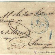 Sellos: 1851 CUBA ISABEL II PLICA DE LA HABANA A SANTIAGO RRR (18). Lote 26770802