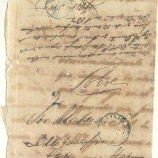 Sellos: 1857 CUBA ISABEL II PLICA CIRCULADA MATANZAS LA HABANA RRR (2). Lote 26770861