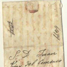 Sellos: 1845 CUBA ISABEL II CARTA DE LA HABANA A MATANZAS R (12). Lote 26770956