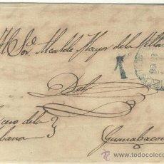 Sellos: 1856 CUBA ISABEL II PLICA CIRCULADA DESDE LA HABANA A GUANABACOA RRR (14). Lote 26771022