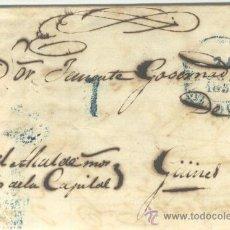 Sellos: 1851 CUBA ISABEL II PLICA DE LA HABANA A GÜINES RRR (19). Lote 26771068