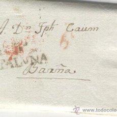 Sellos: PREFILATELIA.CARTA PREFILATELICA.BERGA.AÑO 1831. BARCELONA.ESCASA MARCA. BASTANTE NITIDA. NUMERO 5.. Lote 27651385