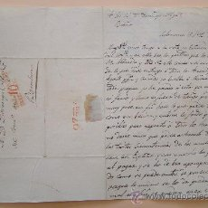 Sellos: 1834 CRISIS EN EL PAIS * ENVIADA DESDE SALAMANCA A BARCELONA * ANTIGUA CARTA MANUSCRITA . Lote 29745278
