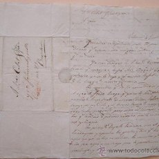 Sellos: 1840 * ENVIADA DESDE VALENCIA A BARCELONA * ANTIGUA CARTA MANUSCRITA . Lote 29745298
