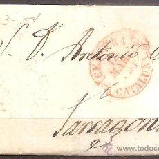 Sellos: PREFILATELIA,ENVUELTA CERVERA A TARRAGONA 1854.. Lote 30265697