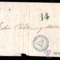 Sellos: PLICA DE SANTA CATALINA A SANTIAGO DE CUBA. 1853. CUBA. Lote 30702471