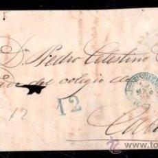 Sellos: PLICA DE SANTIAGO DE CUBA A PUERTO PRÍNCIPE, 1850. Lote 30702536