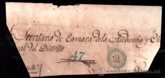 PLICA DE SANTIAGO DE CUBA, 1849 (Filatelia - Sellos - Prefilatelia)