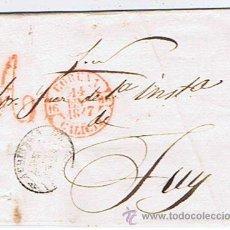 Sellos: ENVUELTA CIRCULADA I ESCRITA DESDE CORUNYA A TUY 1847 COM MARCAS DE GALICIA. Lote 32141708