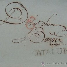 Sellos: CARTA PREFILATELIA DE TORTOSA (TARRAGONA) A BARCELONA (1827). Lote 34845735