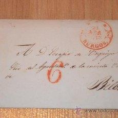 Sellos: ENVOLTORIO DOS SELLOS BURGOS - BILBAO 1843 . Lote 35221294