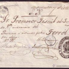 Sellos: ESPAÑA. 1859. CUBIERTA DE BETANZOS A FERROL. DIVERSAS MARCAS. MAGNÍFICA Y RARA.. Lote 27441359