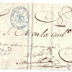 Sellos: 1857. PLICA COMPLETA. LA CAÑIZA. MARCA DE ABONO *A* DE VIGO Y ADMINISTRATIVA. MAGNÍFICA Y MUY RARA.. Lote 24223427