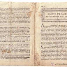 Sellos: PERIÓDICO * GAZETA DE MADRID *. AÑO 1773 (SIGLO XVIII). TEXTO SOBRE CORREOS MARÍTIMOS. RARÍSIMO. Lote 22739922