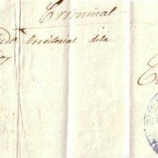 Sellos: ESPAÑA.1862.PLICA DE CHANTADA A LA CORUÑA.MNS. *NO HAY SELLOS DE CORREO*. FRANQUICIA AZUL. MUY RARA.. Lote 25018435