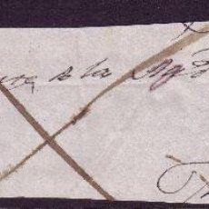 Sellos: ESPAÑA.(PE.4).1849.PLICA DE LA ALMUNIA A ZARAGOZA.BAEZA *ALMUNIA/ARAGÓN*.PORTEO MANUSCRITO.MAGNÍFICA. Lote 25147699