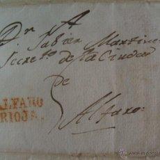 Sellos: ALDEA NUEVA 1829. MARCA ROJA ALFARO RIOJA. Lote 39837098