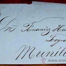 Sellos: ESPAÑA. . 4 CTOS. , MAT. VALLADOLID OCTUBRE 1857 - MUY RARO EL TIPO III EN CARTA Y CON FECHADOR. MAG. Lote 38237970