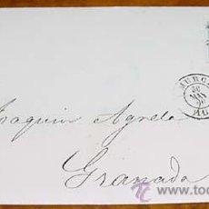 Sellos: SOBRE CIRCULADO - ESPAÑA. .4 CUARTOS. , MAT. MURCIA MAYO 1866 - MUY RARO CON FECHADOR. MAGNÍFICA. A. Lote 38237971