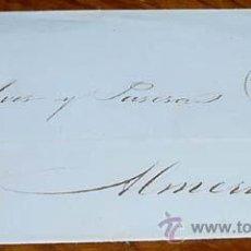 Sellos: SOBRE CIRCULADO - ESPAÑA. CORREOS 1860 - 4 CUARTOS - MATASELLOS FECHADOR MALAGA 1860 - A ALMERIA - . Lote 38237979
