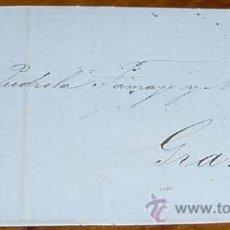 Sellos: SOBRE CIRCULADO - ESPAÑA. CORREOS 1864 - 4 CUARTOS - MATASELLOS FECHADOR BARCELONA A GRANADA - HIST. Lote 38237980