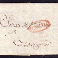 Sellos: ESPAÑA.(CAT. PE.57/RR).1828.CARTA DE BARCELONA A TARRAGONA.MARCA *FRANCO* DE BARCELONA.MAGNÍFICA.RR.. Lote 24223419