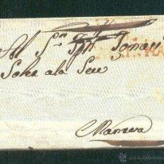 Sellos: 1821.- BARCELONA A MANRESA. Lote 41269409