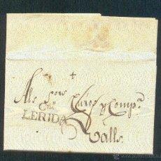 Francobolli: 1817.- LÉRIDA A VALLS. Lote 41308225