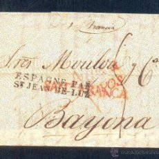 Sellos: 1829.- SANTANDER A BAYONA. Lote 42269881