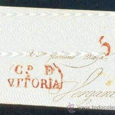 Sellos: 1827.- VITORIA A VERGARA. Lote 42286292