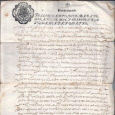 Sellos: AÑO 1644 PAPEL TIMBRADO DOCUMENTO ESCRITO EN DOS PAGINAS. Lote 42854978