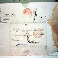 Sellos: PREFILATELIA CON CARTA DE NOVIEMBRE DE 1845 A BARRONDO - BILBAO SELLO VIZCAYA. Lote 43308013