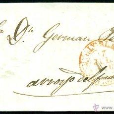 Sellos: *** PRECIOSA CARTA 1846 VILLANUEVA DE LA SERENA 5R A ARROYO DEL PUERCO D.P.13 MARCA EN ROJO ***. Lote 43857943