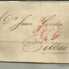 Sellos: ENVUELTA CIRCULADA 1847 DE VITORIA A BILBAO CON FECHADOR BAEZA. Lote 44646551