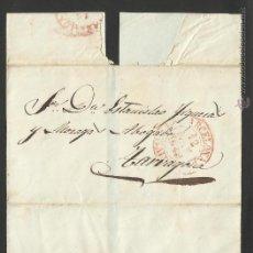 Sellos: ENVUELTA CIRCULADA 1849 DE BARCELONA A TARRAGONA FECHADOR SALIDA Y LLEGADA BAEZA. Lote 44647015