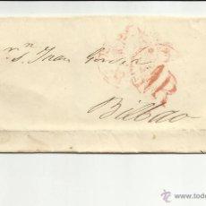 Sellos: ENVUELTA CIRCULADA 1847 DE VITORIA A BILBAO CON FECHADOR BAEZA . Lote 45216102