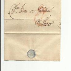 Sellos: ENVUELTA CIRCULADA 1847 DE DURANGO A BILBAO CON FECHADOR BAEZA . Lote 45216258