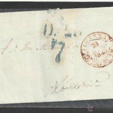 Sellos: ENVUELTA CIRCULADA 1843 DE LLERENA BADAJOZ A MADRID CON FECHADOR BAEZA . Lote 45216773