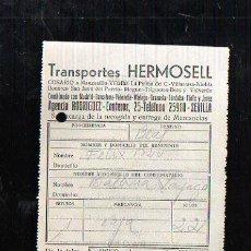 Sellos: COSARIO. TRANSPORTES HERMOSELL. 1955. SEVILLA. Lote 45368159