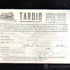 Sellos: COSARIO DIRECTO. TARDIO. ENCARGOS A DOMICILIO. 1952. Lote 45368177