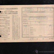 Sellos: COSARIO. JOSE VALLADARES. SERVICIO RAPIDO DE TRANSPORTES. 1952. SEVILLA. Lote 45368220