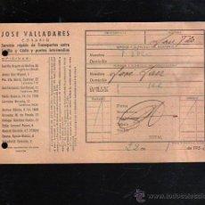 Sellos: COSARIO. JOSE VALLADARES. SERVICIO RAPIDO DE TRANSPORTES. 1952. SEVILLA. Lote 45368249