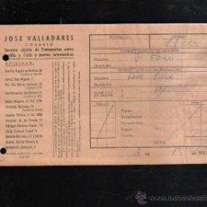 Sellos: COSARIO. JOSE VALLADARES. SERVICIO RAPIDO DE TRANSPORTES. 1952. SEVILLA. Lote 45368459